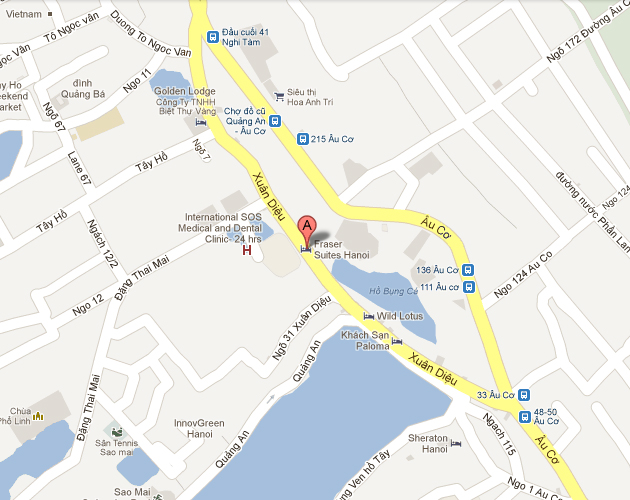 Fraser-Suites-Hanoi-Location